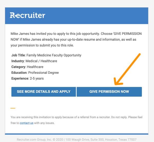 Job Invite