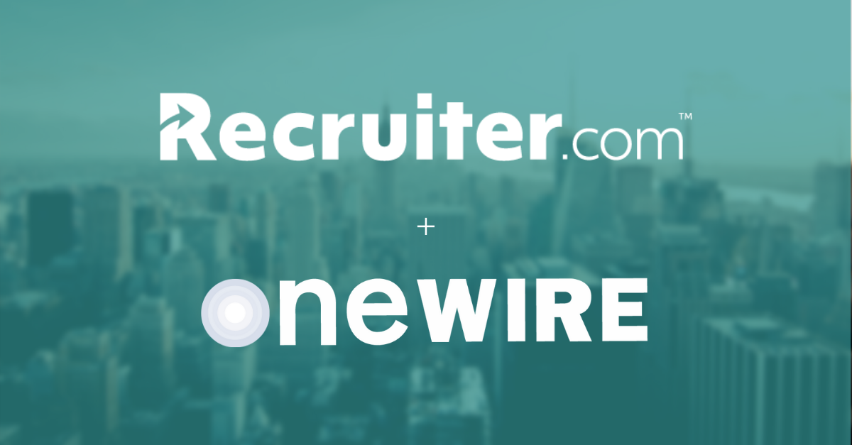 Recruiter.com and OneWire Graphic
