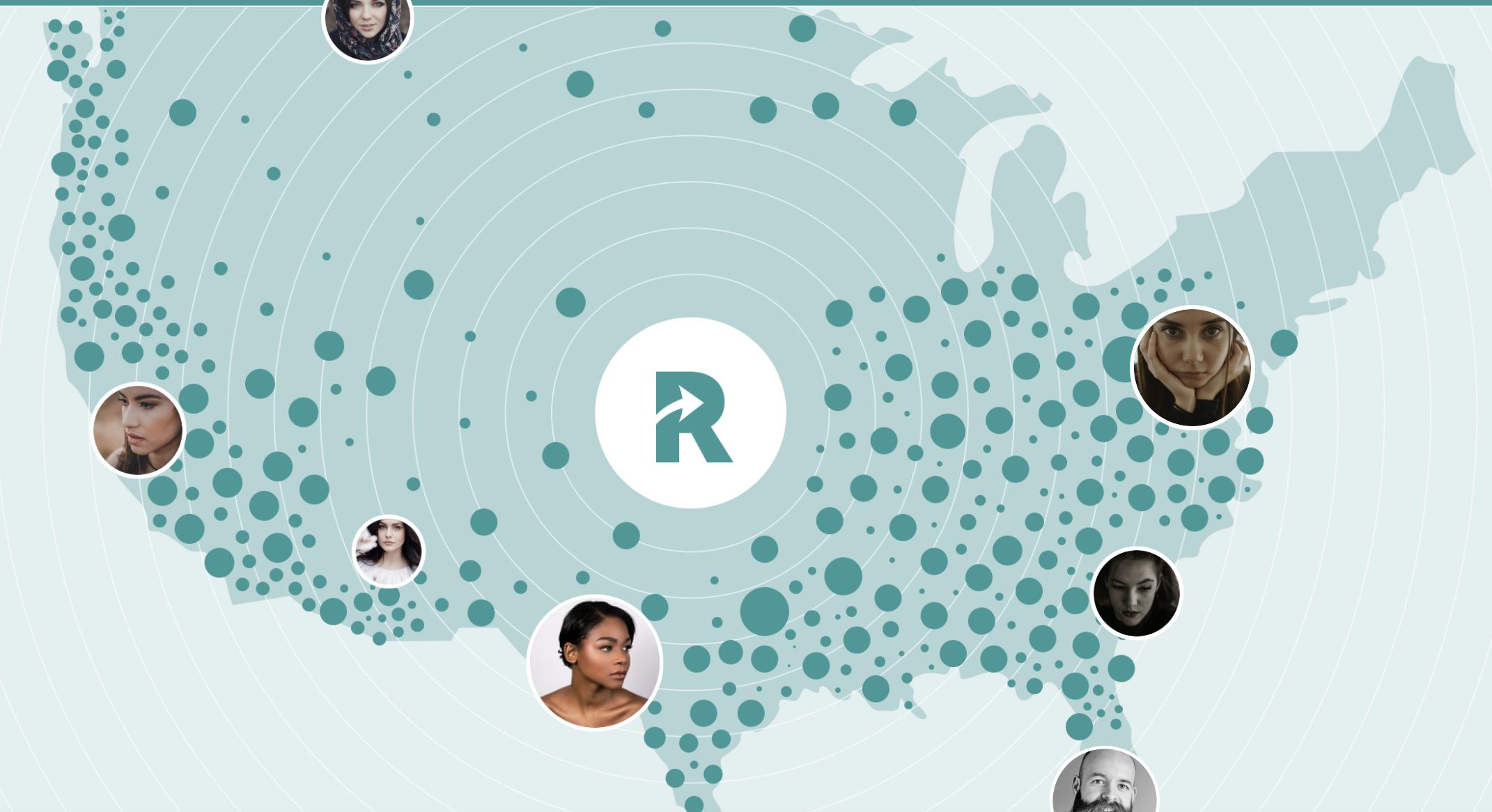 Map of Recruiter.com Recruiters