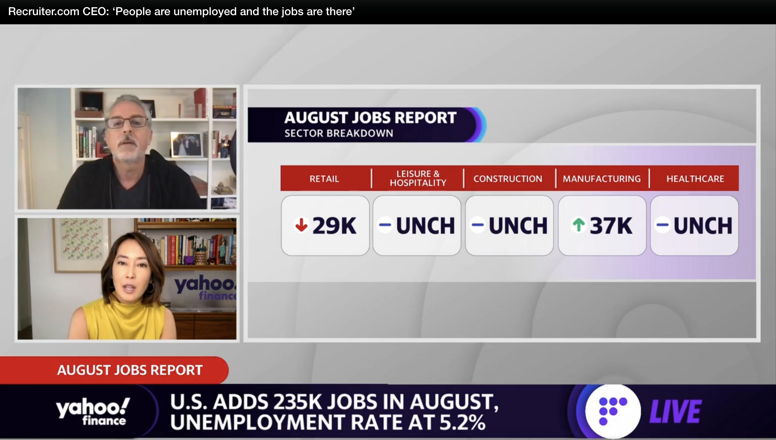 Recruiter.com on Yahoo Finance